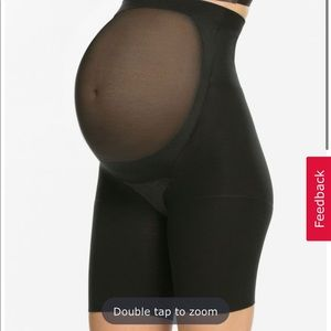 Spanx mama black shorts